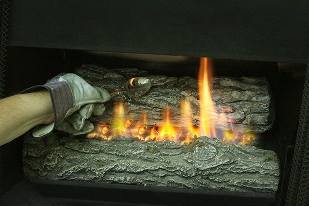 How to Make a Gas Fireplace More Like a Wood