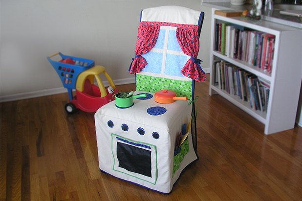 small fold up chair wedding covers grimsby kids kitchen slipcover (with pictures) | ehow