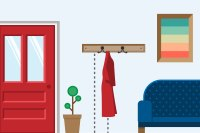 The Height on a Wall to Hang a Coat Rack (with Pictures