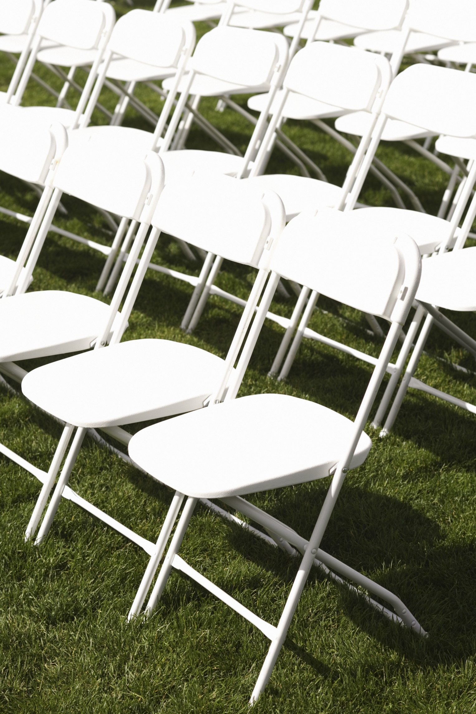 metal chair covers wedding best back cushion for office how much room when setting up folding chairs ehow