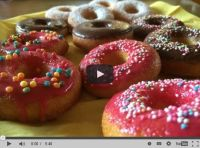 SIMPSONS DONUTS selber backen ohne frittieren