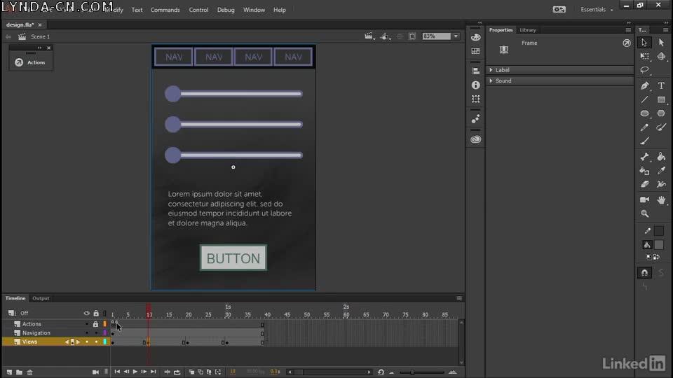 Adobe Animate: Designing Interactive Experiences Adobe Animate:設計互動體驗 Lynda課程中文字幕 - IT閱讀