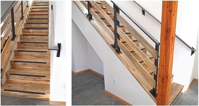Andrew Traub Studio | Pine Handrail For Stairs | Stair Parts | Anti Slip | Handrail Brackets | Stair Treads | Wood Stair
