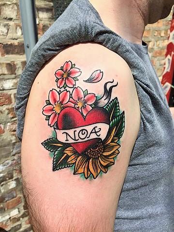 Heart Banner Tattoo : heart, banner, tattoo, Cassandra, Tattoo