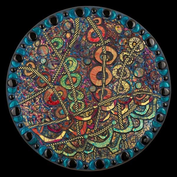Contemporary Glass Mosaic Wall Art