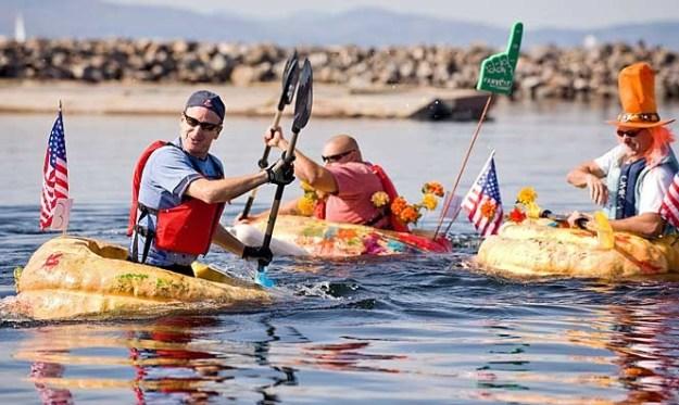 11. Pumpkin Boat Racing