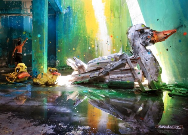 Junk Gets a Second Life as Gorgeous 3D Animal Street Art 14