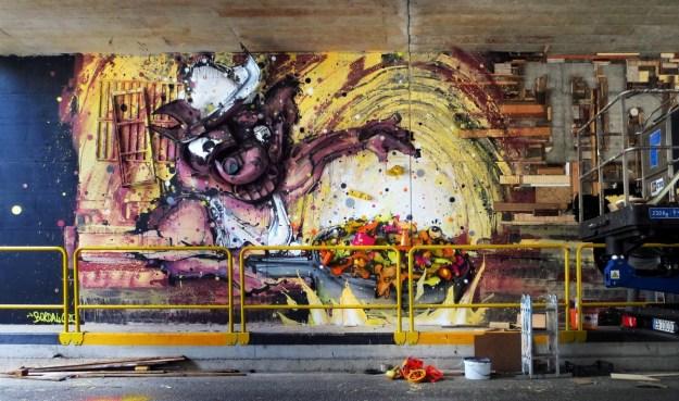 Junk Gets a Second Life as Gorgeous 3D Animal Street Art 8