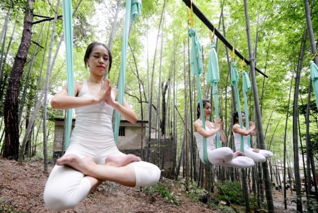 Anti-Gravity Yoga In Bamboo Forest (OMG) 8
