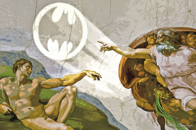 When Batman Pop Art Meets Classic Paintings 10
