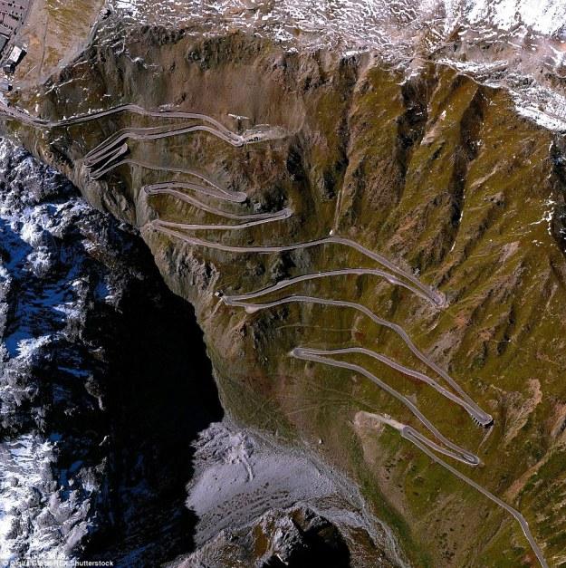 10. The roads through Stelvio Pass, Italy