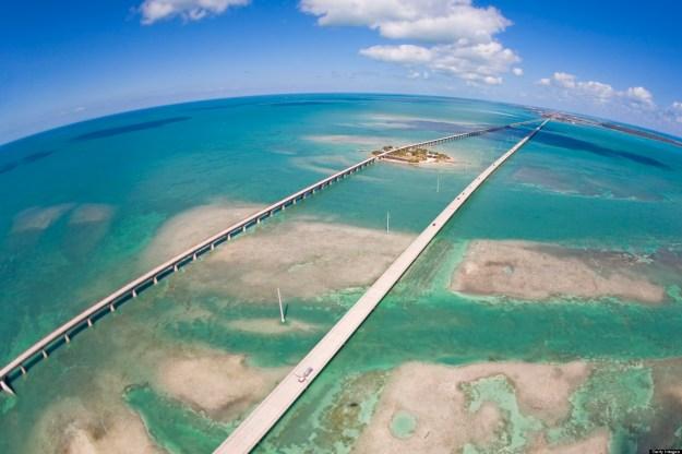 Pigeon Key, Seven Mile Bridge, Florida.