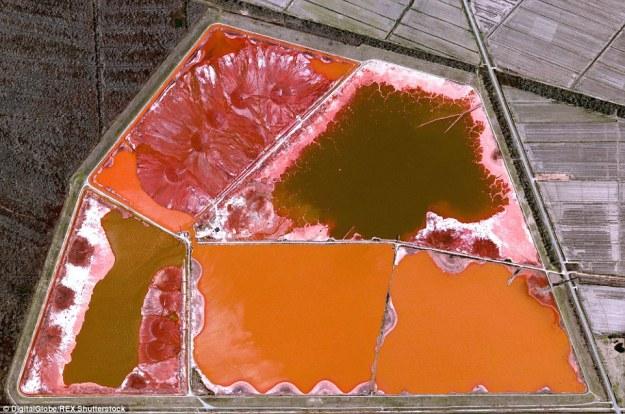 14. Aluminum toxic waste pond, Darrow, Louisiana, US