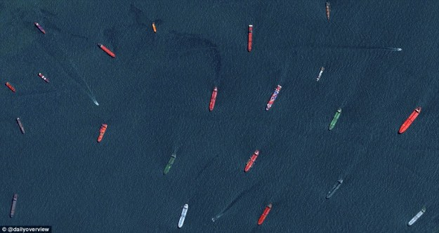 5. Cargo ships and tankers, port of Singapore