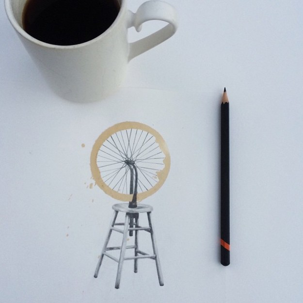 Amazing Coffee Stain Drawings by Carter Asmann 8
