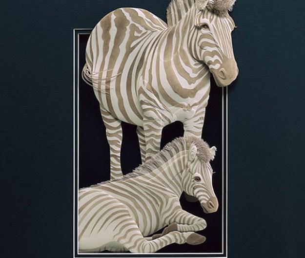 Super Realistic Paper Sculptures Of Animals By Calvin Nicholls 10