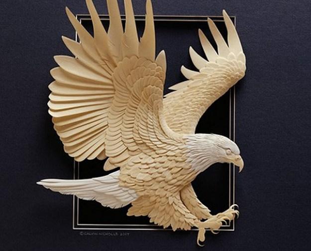 Super Realistic Paper Sculptures Of Animals By Calvin Nicholls 12