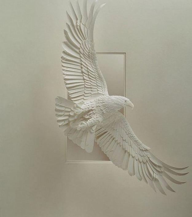 Super Realistic Paper Sculptures Of Animals By Calvin Nicholls 14