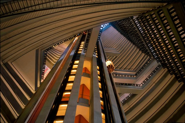 The atrium of architect and real estate developer John Portman's Atlanta Marriott Marquis. Photo credit: Michael Portman. HANDOUT PHOTO - NOT FOR RESALE