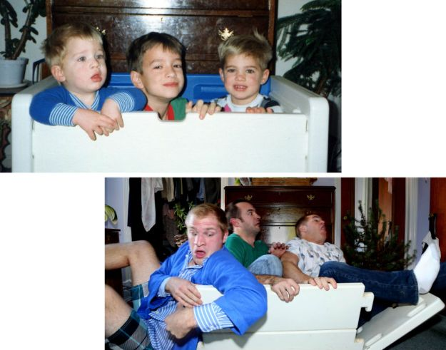 three-brothers-reenact-their-childhood-photos -as-a-gift-for-their-mother-12