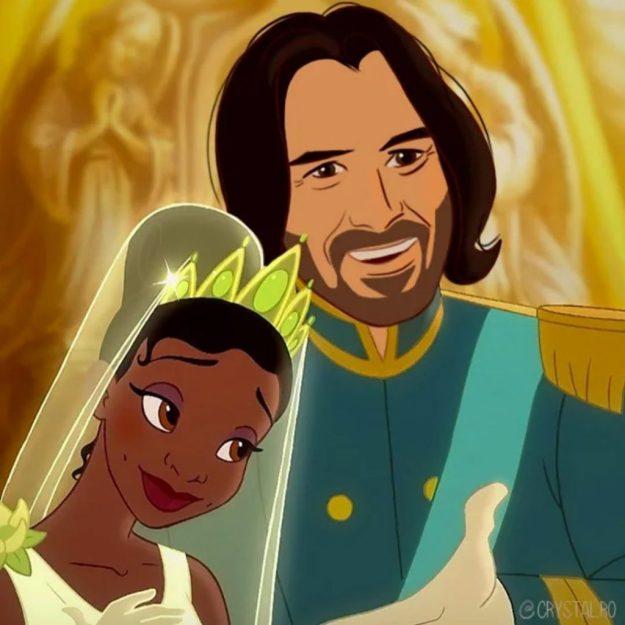 Keanu Reeves as Prince Naveen | BrainBerries
