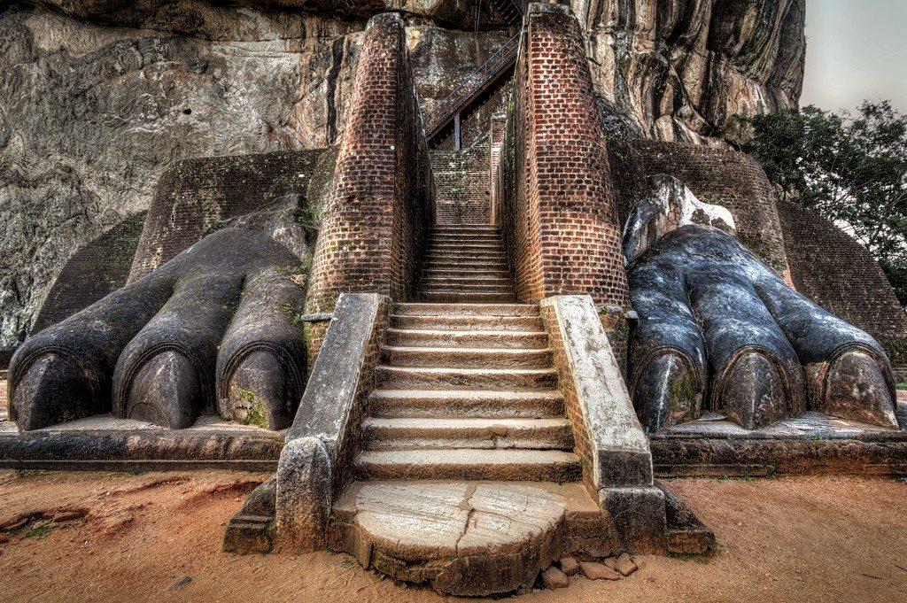 Lion Rock, Sigiriya, Sri Lanka| 15 Most Astonishing Staircases In the World | Brain Berries