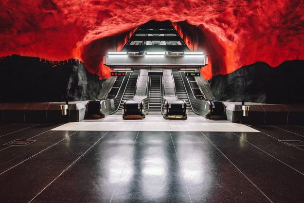 Solna Centrum Metro Station, Stockholm | The World's Most Beautiful Ceilings | Brain Berries