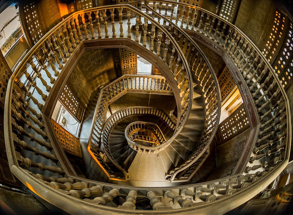 Stairs in Baron's Palace Heliopolis, Egypt | 15 Most Astonishing Staircases In the World | Brain Berries