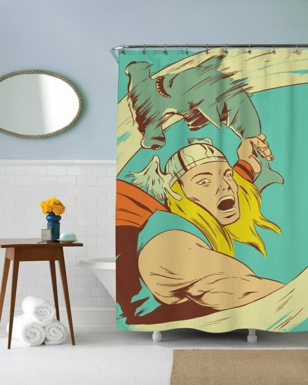 28 Geeky and Hilarious Shower Curtains For Adult #7 | Brain Berries