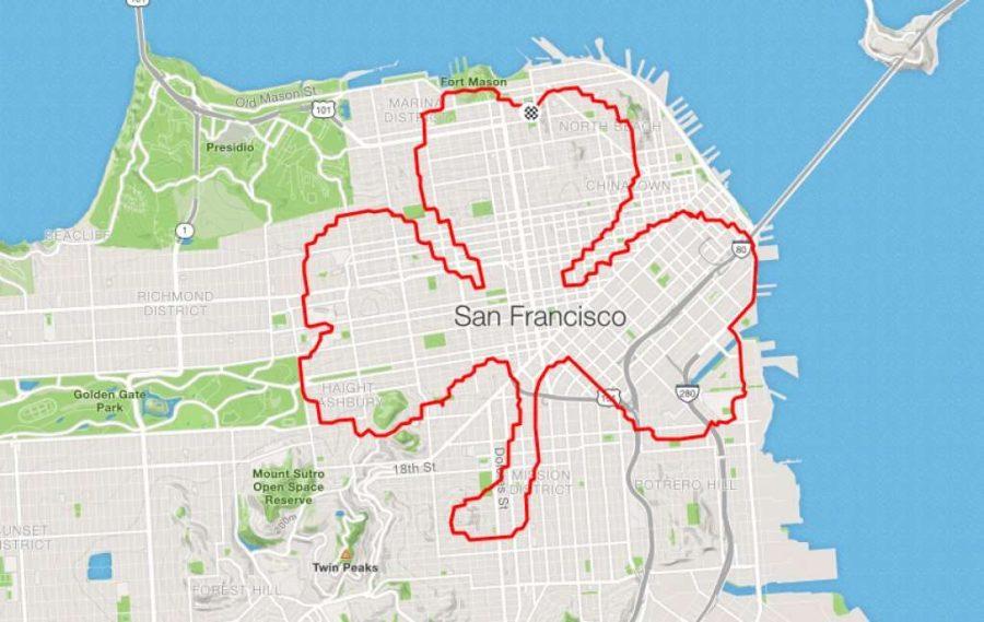 عداء Lenny Maughan برسيم بثلاث أوراق |  عداء سان فرانسيسكو يبتكر الفن فقط من خلال الركض في الأرجاء |  التوت الدماغ