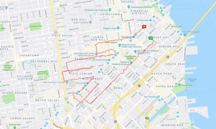 عداء ليني موجان فولكان تحية |  عداء سان فرانسيسكو يبتكر الفن فقط من خلال الركض في الأرجاء |  التوت الدماغ