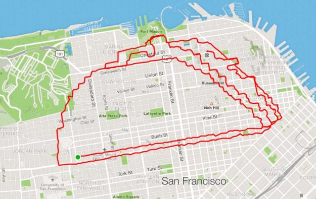 runner Lenny Maughan taco | San-Francisco Runner Creates Art Just By Jogging Around | Brain Berries
