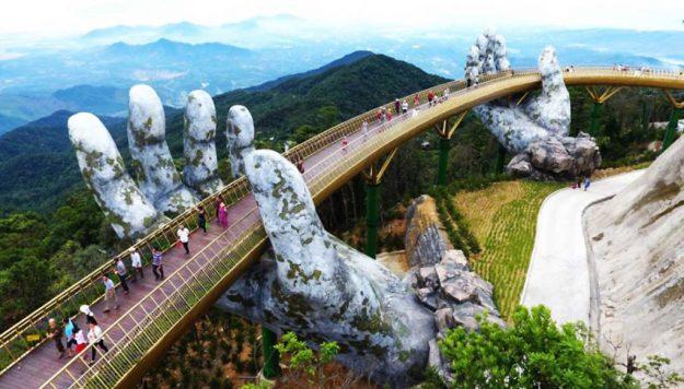 Golden Bridge, Vietnam | 6 Most Picturesque Bridges in the World | Brain Berries