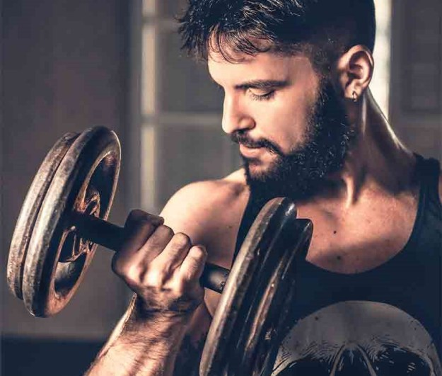 Strength trainings for beard growth | 10 Hacks To Grow A Better Beard | Brain Berries