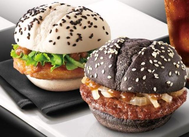 بلاك اند وايت برجر |  برغر ماكدونالدز الأكثر إثارة للتساؤل هناك |  التوت الدماغ