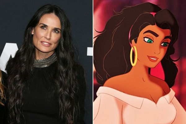 Demi Moore – Esmeralda in The Hunchback of Notre Dame  | 21 Celebrities Who Voiced Your Favorite Cartoon Characters | Brain Berries