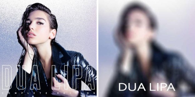 Dua Lipa  –  Dua Lipa  | A Streaming Service in Iran is Removing Pictures of Female From Digital Covers | Brain Berries