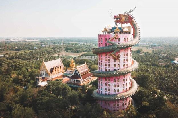 The Dragon Building in Wat Samphran   7 Thailand's Most Exquisite Architectural Wonders   Brain Berries
