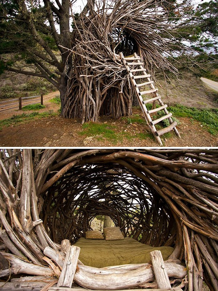 Nest bed | 10 Bizarre Beds You'd Never Be Able To Sleep In | Brain Berries