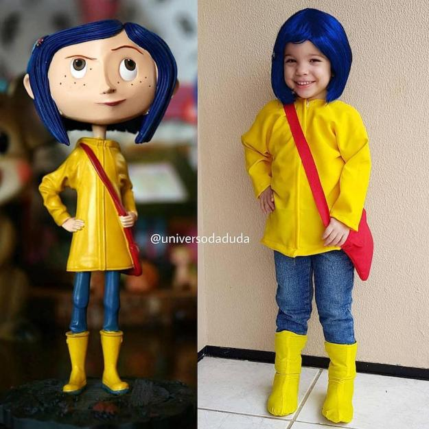 Maria cosplaying as Coraline | The Youngest Cosplayer You'll Be Jealous Of | Brain Berries