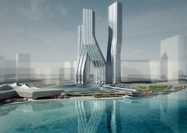 Небоскребы Signature Towers вДубае, ОАЭ | Космические работы самой известной женщины-архитектора Захи Хадид | Brain Berries