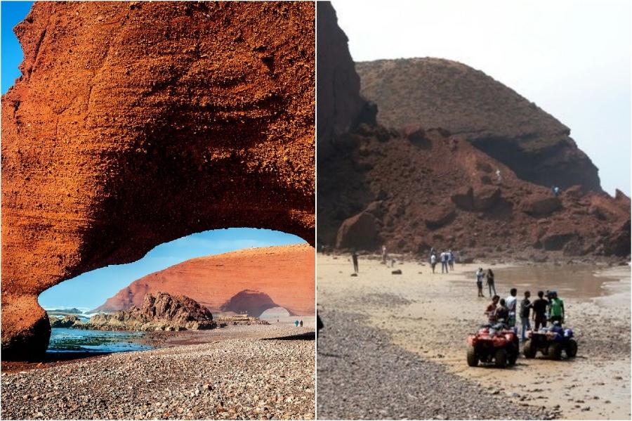 Rock Archways في شاطئ Legzira ، المغرب |  المعالم التاريخية التي فقدناها في السنوات الخمس الماضية |  برين بيري