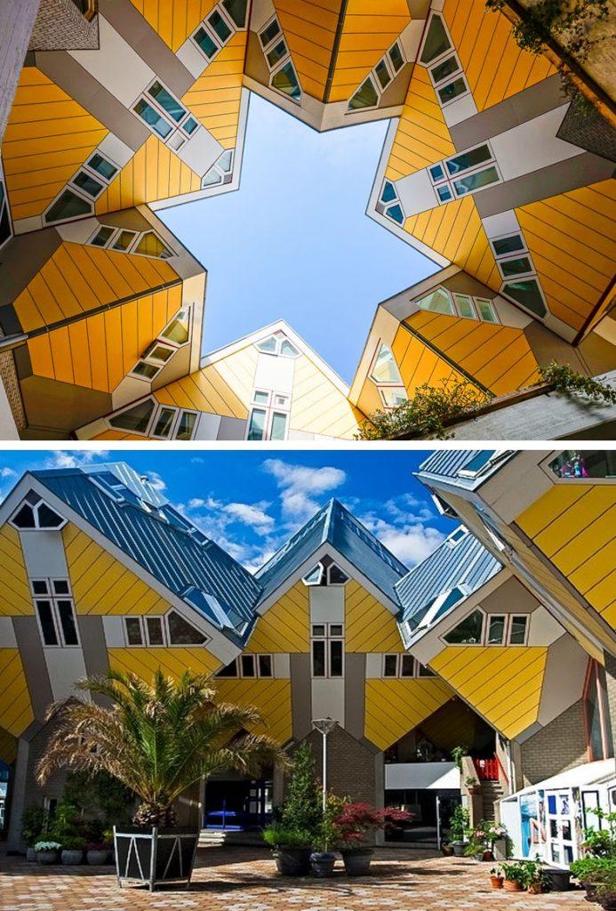 Shtëpitë Kubike (Roterdam, Hollandë) |  8 ndërtesa të pabesueshme që duken si diçka nga një univers paralel |  Zestradar