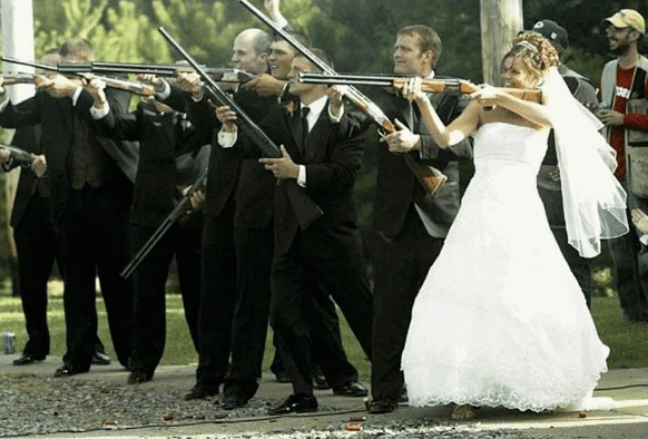 4. At the shooting range | Top 9 Most Bizarre Places to Get Married | Brain Berries