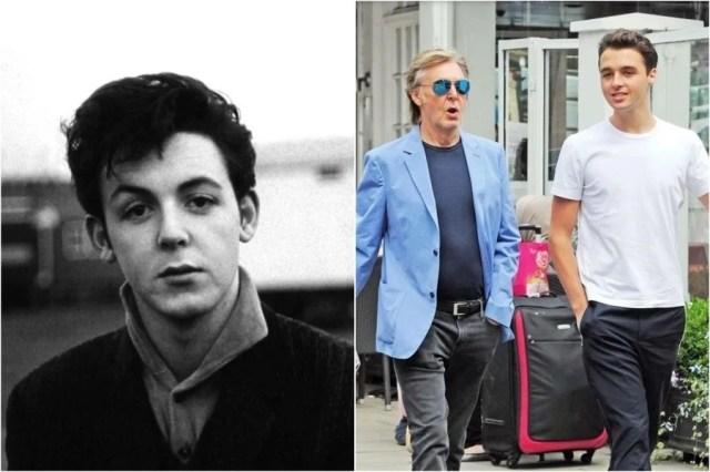 بول مكارتني وآرثر |  8 أحفاد المشاهير الذين يشبهون أجدادهم |  زيسترادار