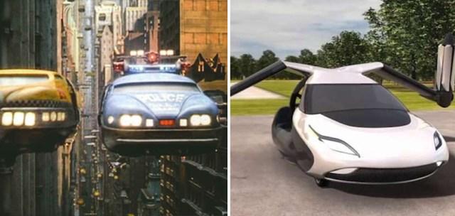 سيارات طيران |  10 اختراعات علمية خيالية انتقلت من الشاشة إلى الحياة الواقعية |  زيسترادار