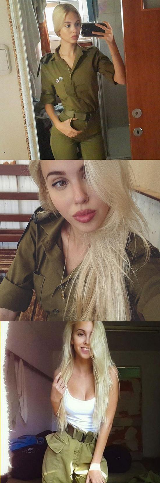 Maria Domark - 以色列女兵模特兒身材超火辣,翹臀超性感,爆乳超豐滿、軍服隱藏不住的姣好曲線若量產世界就毀了