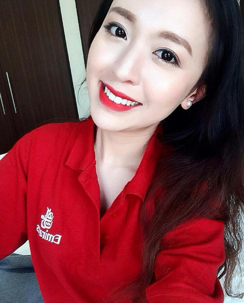 越南空姐 -  阿酋航空超正空姐、清純可人白皙水嫩驚為天人有韓味、打破對越南人的想像