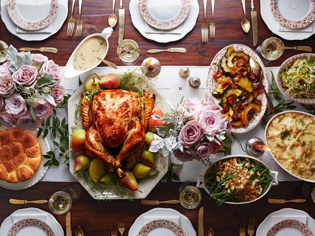 1 Rosemary-Pear Glazed Roasted Turkey