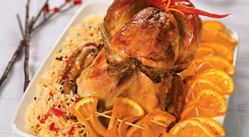 2 Roasted Turkey with Oranges and Garlic